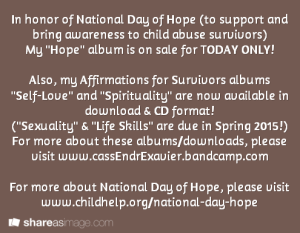 National Day of Hope CD sale
