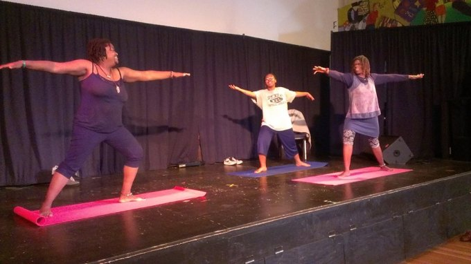 teaching yoga with a beard at BWAF Philly 2015